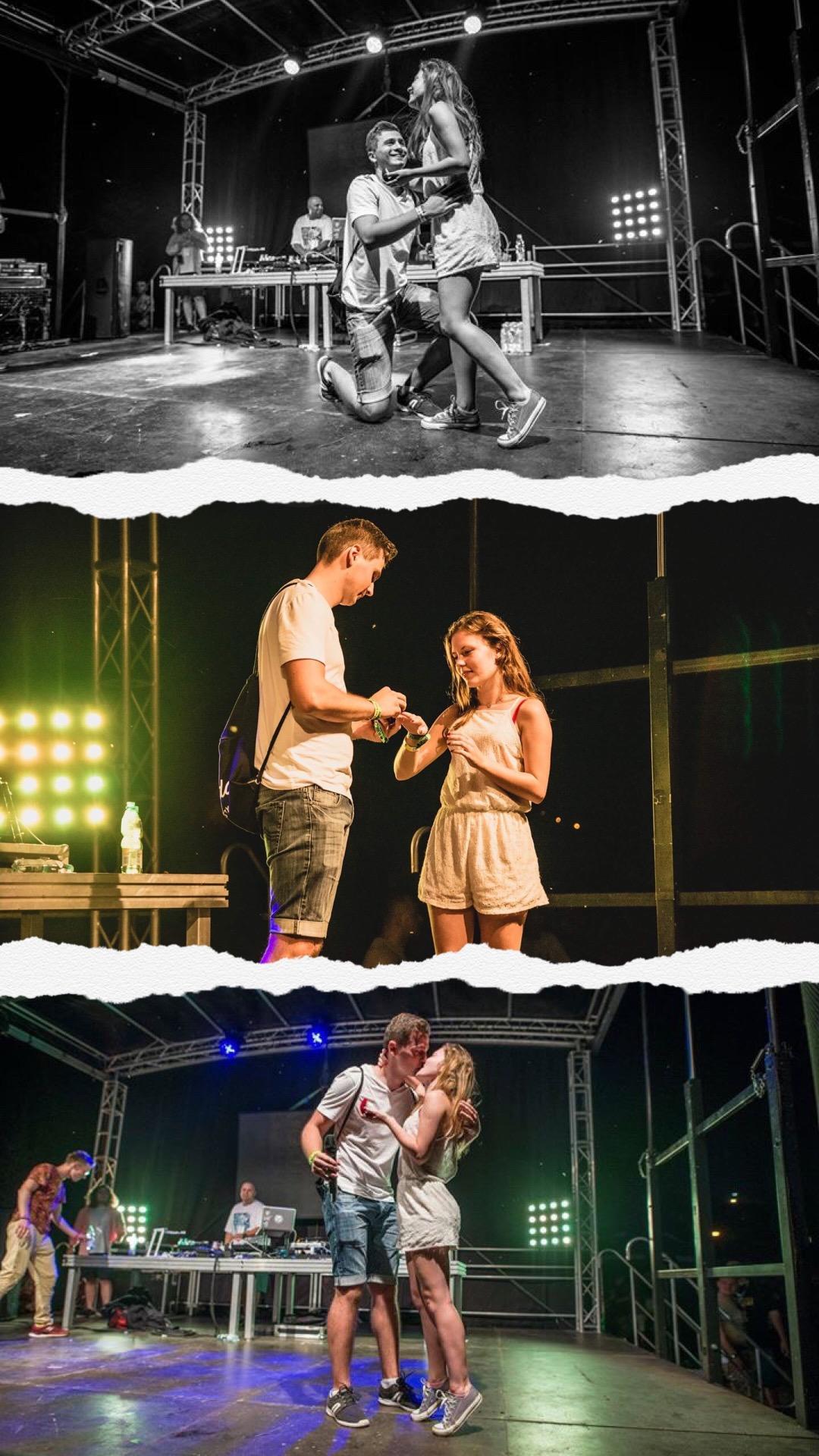 zaręczyny na scenie