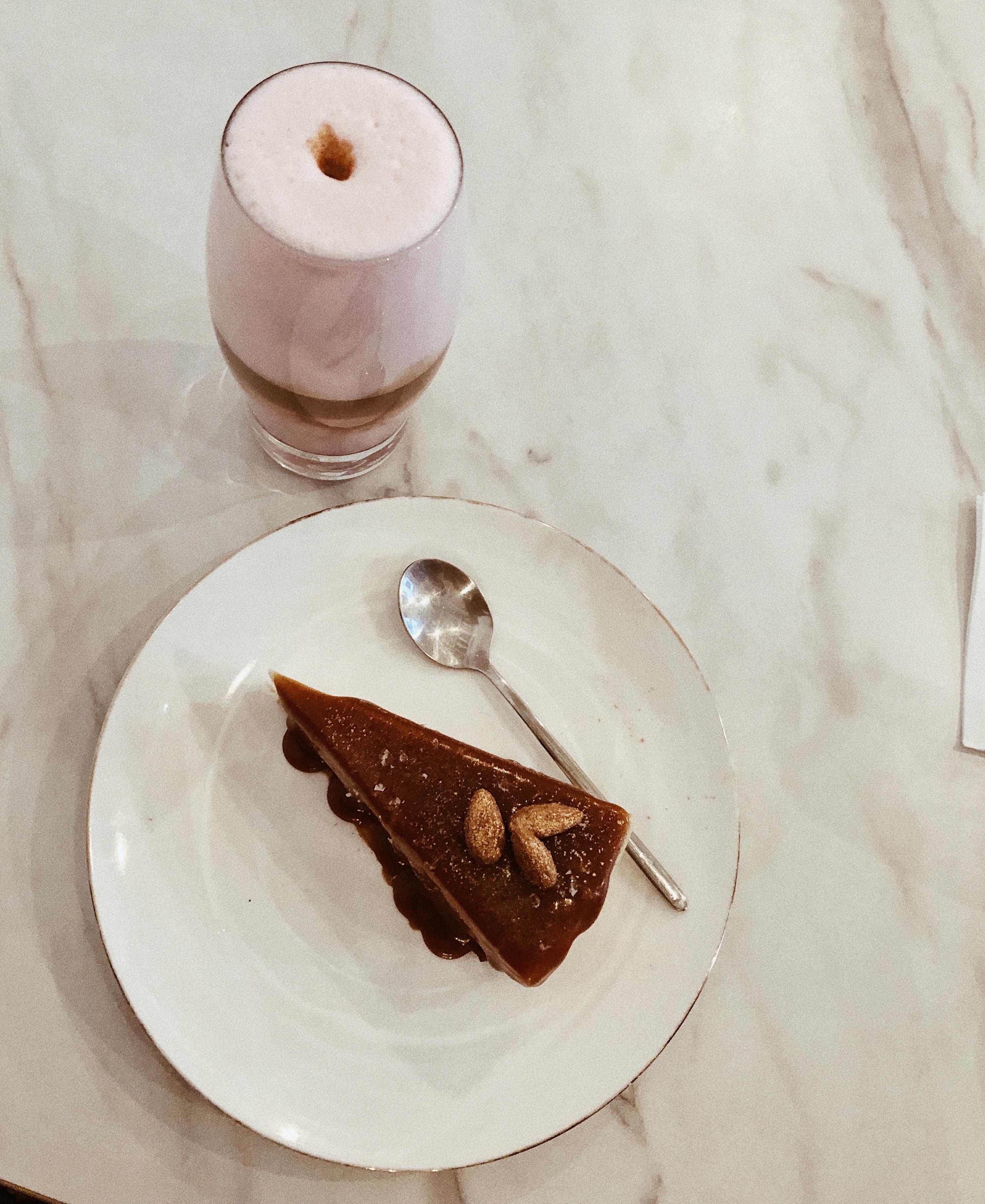 różane latte macchiato